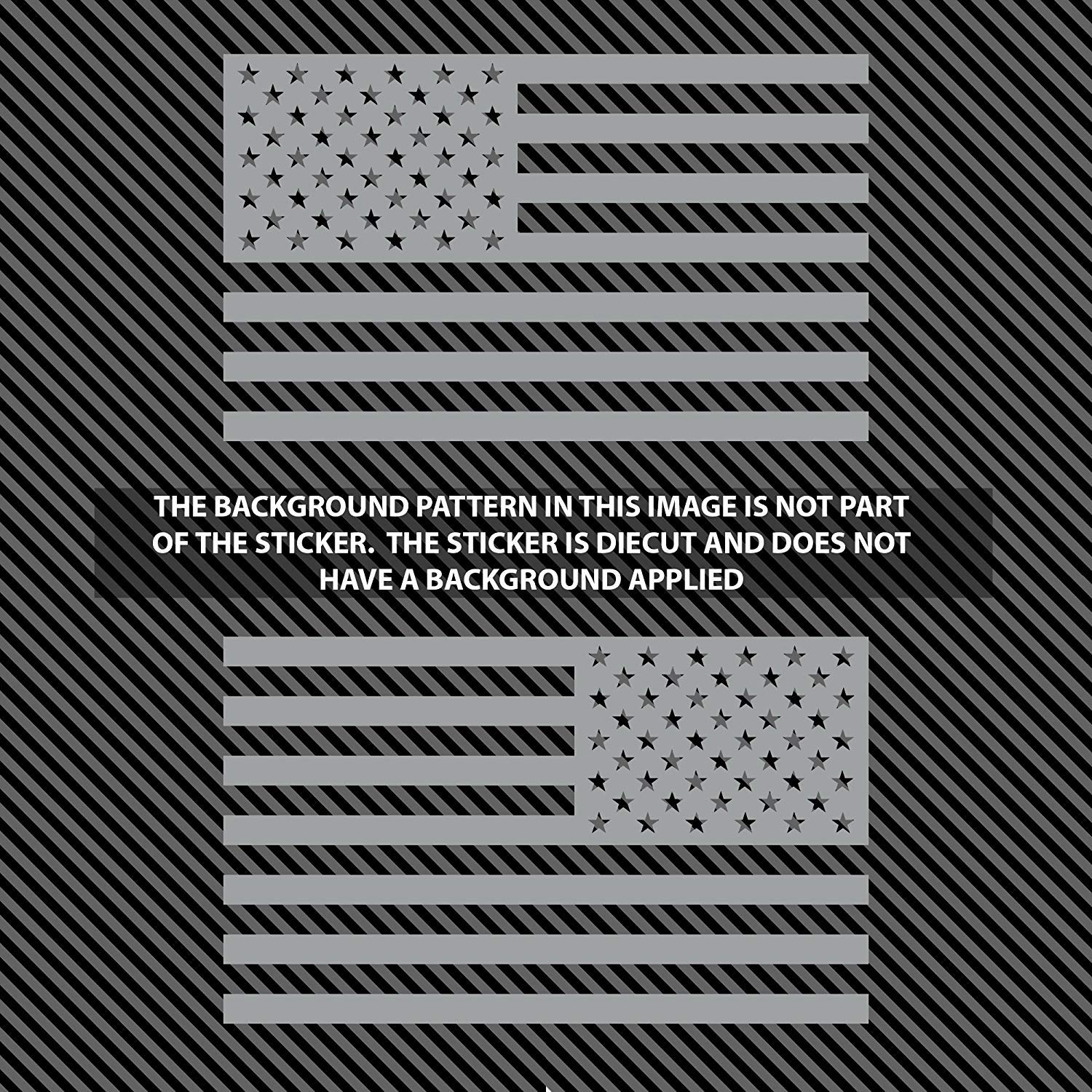 CBG-STK-08 Classic Biker Gear Subdued American Flags Tactical Military Flag USA Decal Jeep 5x3 Matte Grey