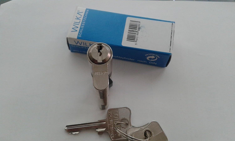 wilka 1400 A (Alemania) Euro de alta seguridad cerradura de cilindro, 30mm/30mm, 1: Amazon.es: Industria, empresas y ciencia