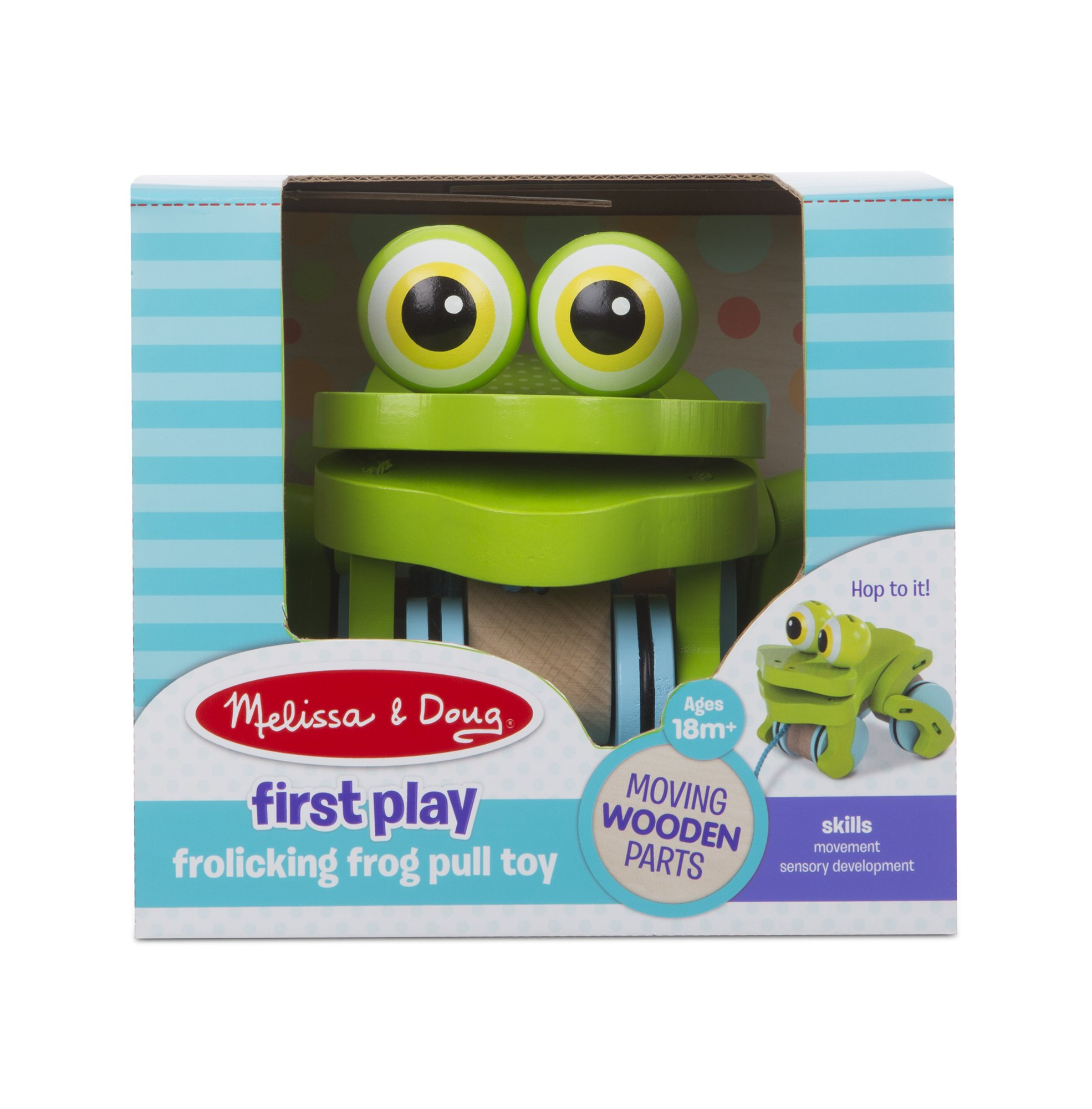 Melissa & Doug First Play Frolicking Frog Wooden Pull Toy by Melissa & Doug (Image #4)
