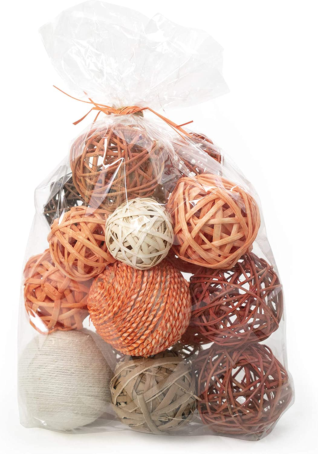 ANDALUCA Decorative Vase Filler Bag with Orbs, Balls (Burnt Orange)