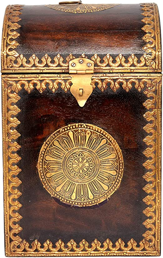Jaipur handicrafts hub - Caja de Almacenamiento para 4 Botellas de ...
