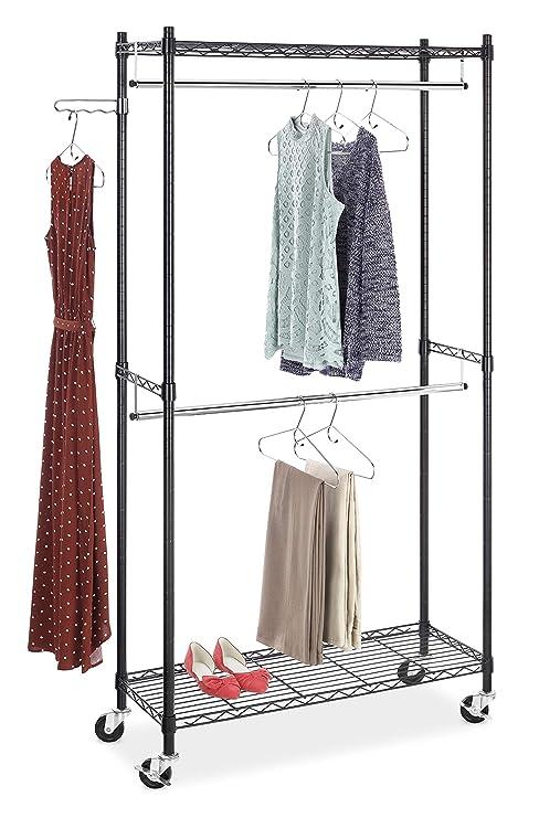 Amazon.com: Whitmor excelente bastidor para prendas de dos ...