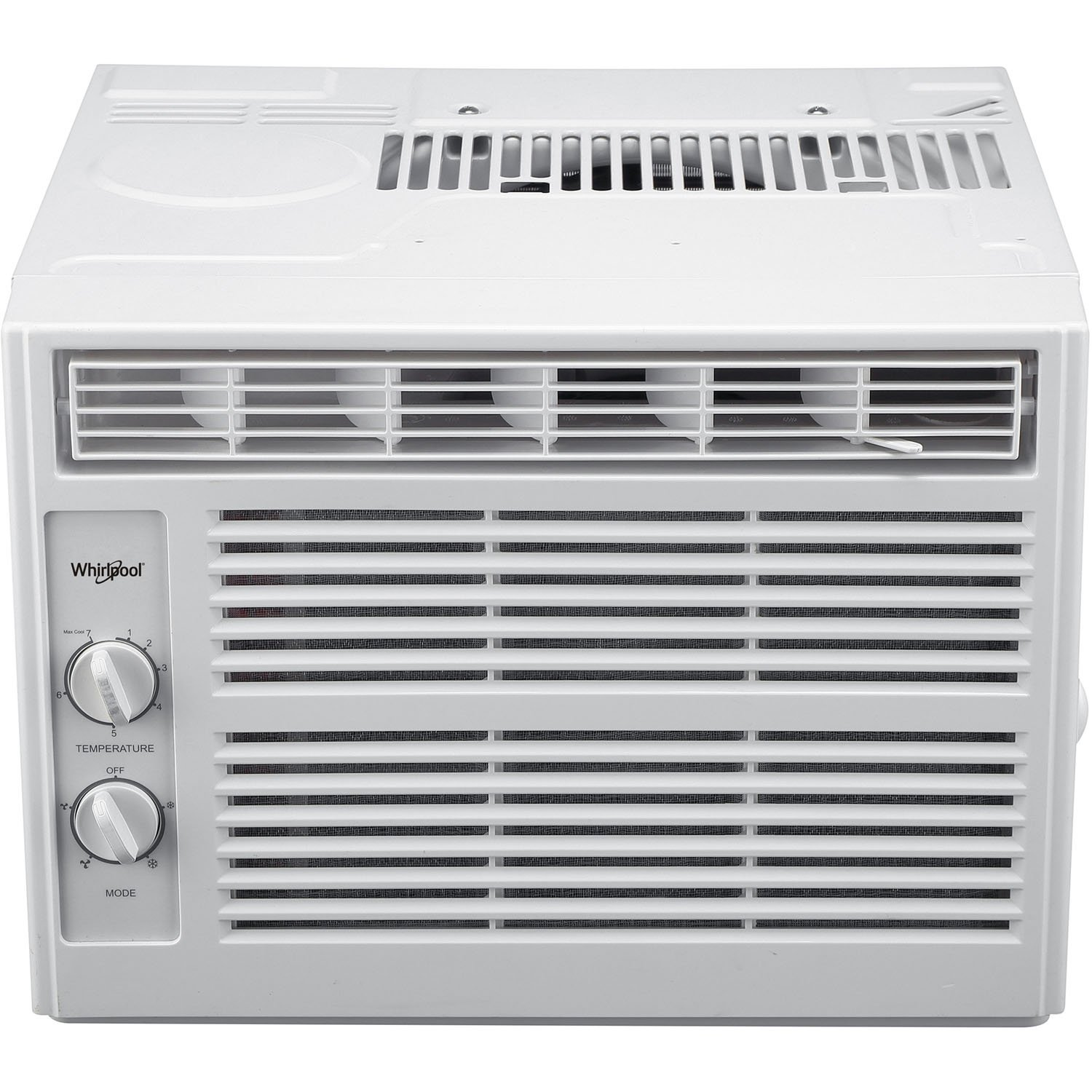Whirlpool 5,000 BTU 115V Window-Mounted Air Conditioner with Mechanical Controls, White WHAW050BW