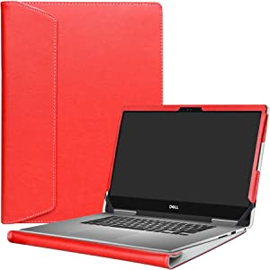 """Alapmk Protective Case Cover for 13.3"""" Dell Inspiron 13 2-in-1 7373 i7373 / Inspiron 13 7370 i7370 Laptop(Warning:only fit Model 7373 7370),Red"""
