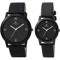Om Designer Analogue Black Dial Men & Women Couple Watch OM-Unisex-BL-11