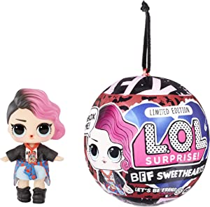 LOL Surprise BFF Sweethearts Rocker Doll with 7 Surprises, Surprise Doll, Valentine's Doll, Accessories