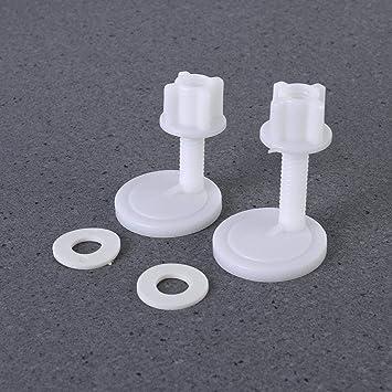 BERYLX Vis de Fixation pour abattant de WC Blanc 39 x 39 mm