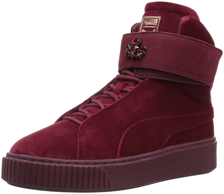 PUMA Women's Platform Mid Velour WNS Sneaker B077JTWLQM 6 M US|Cordovan