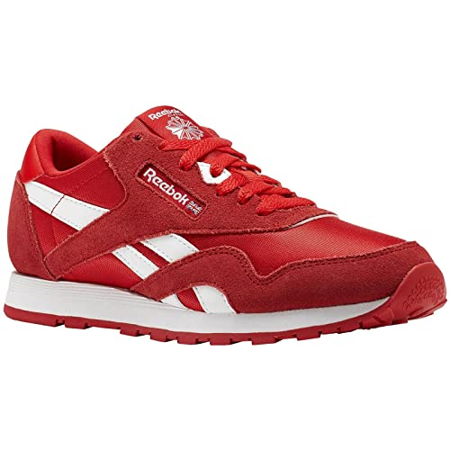 Amazon.com  Reebok Youth Classic CN1269 Primal Red White Nylon Trainers 5  US  Sports   Outdoors b31a4a65b