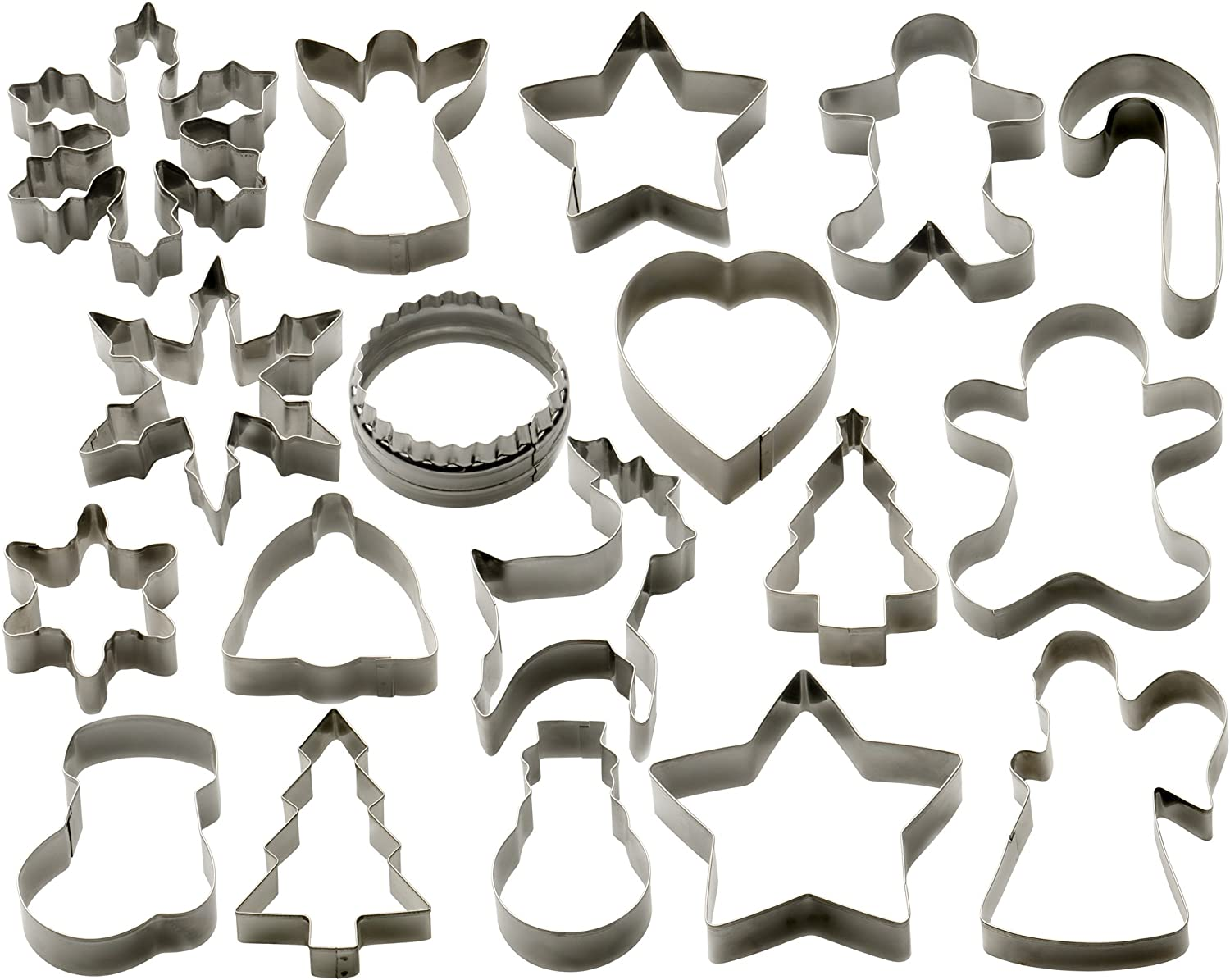 StarPack Christmas Cookie Cutters Set (18 Piece)