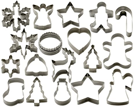 Starpack Christmas Cookie Cutters Set 18 Piece Favorite Holiday Shapes Including Gingerbread Man Star And Snowflake Cutter Shapes