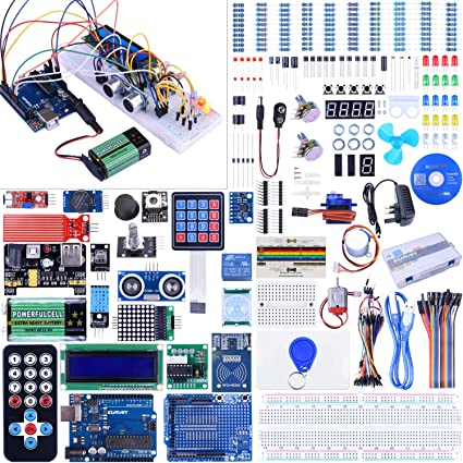 Kuman Starter Kit for Arduino Upgraded Versión Full Ultimate Starter Kit for Arduino Mega 2560 Micro Controller and Lots of Accessories for Arduino Mega2560 Nano Robot K27 Upgraded K27: Amazon.es: Informática