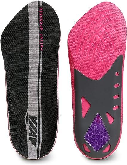 Multi AVIA 3//4 Length Plantar Fasciitis Orthotic All-Day Relief Shoe Women