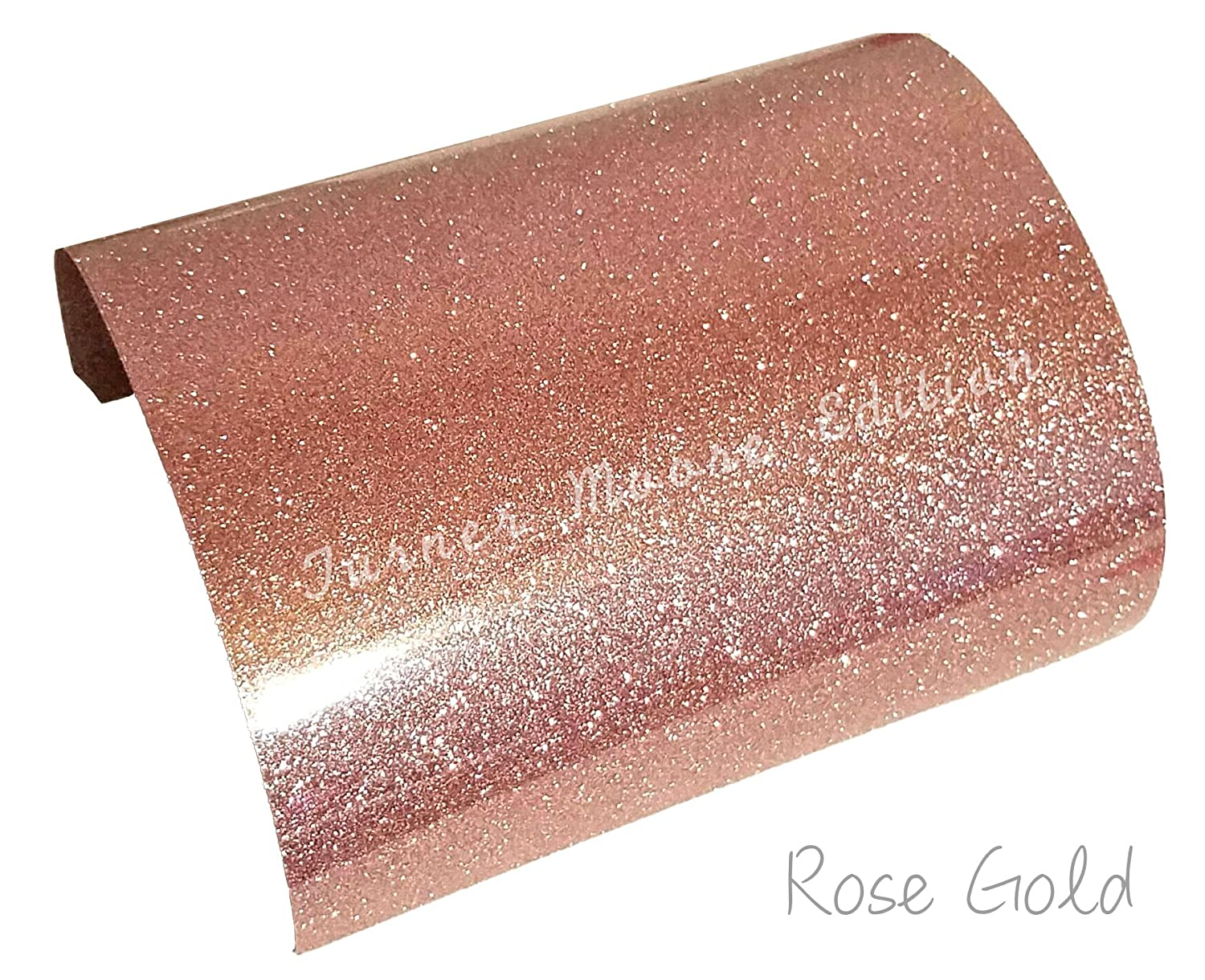 Signs ROSE GOLD Glitter Vinyl Sheets 12 x 12 Cricut Expression Explore 5-Pack Craft Vinyl Adhesive Turner Moore rose gold ultra glitter vinyl Stickers Decals by StyleTech Silhouette Cameo