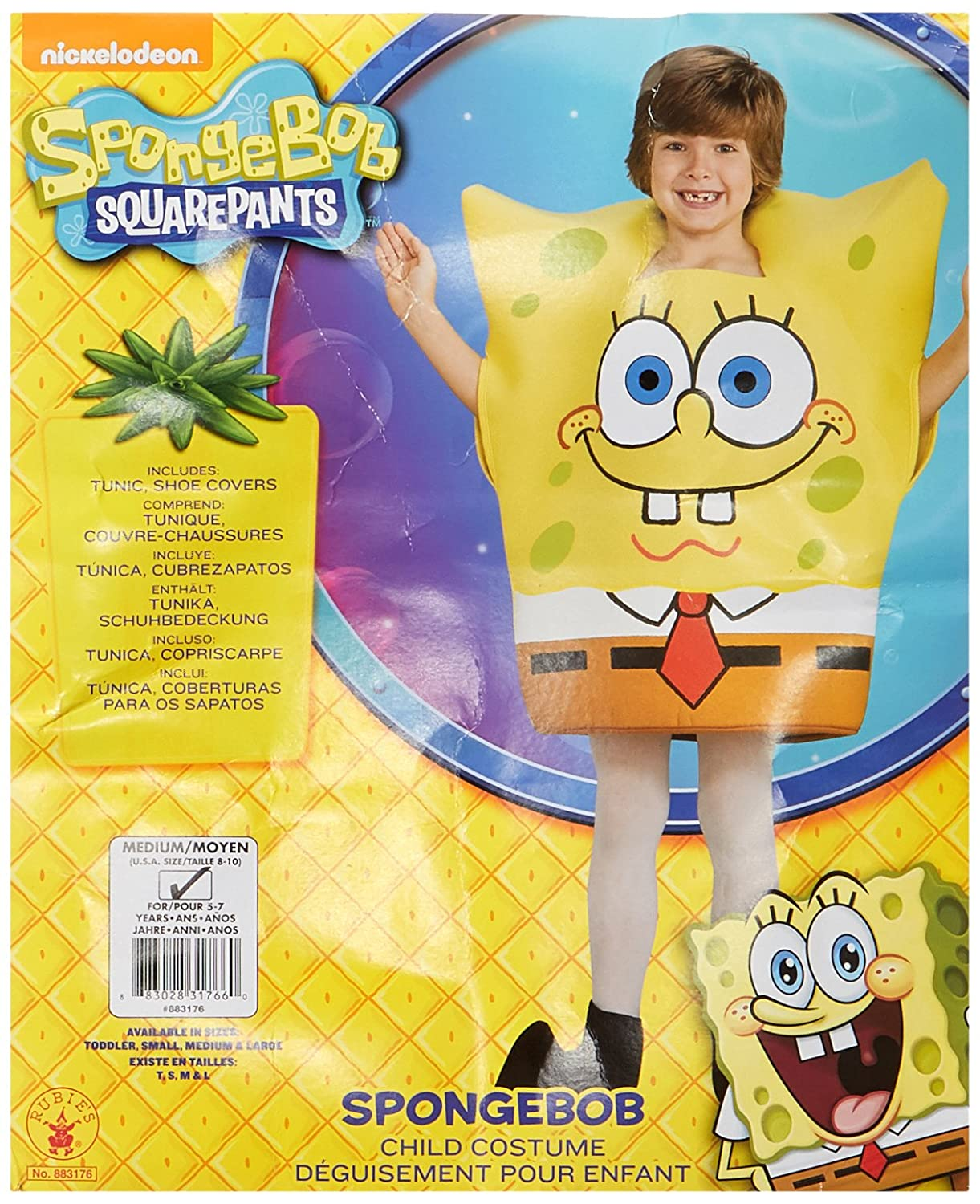 2cc699ac5e9 Amazon.com  SpongeBob Squarepants Child s Costume