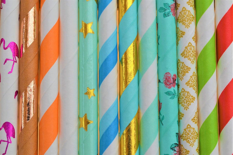Pailles en papier biod/égradables respectueuses de lenvironnement bleu pastel Friendly Straws