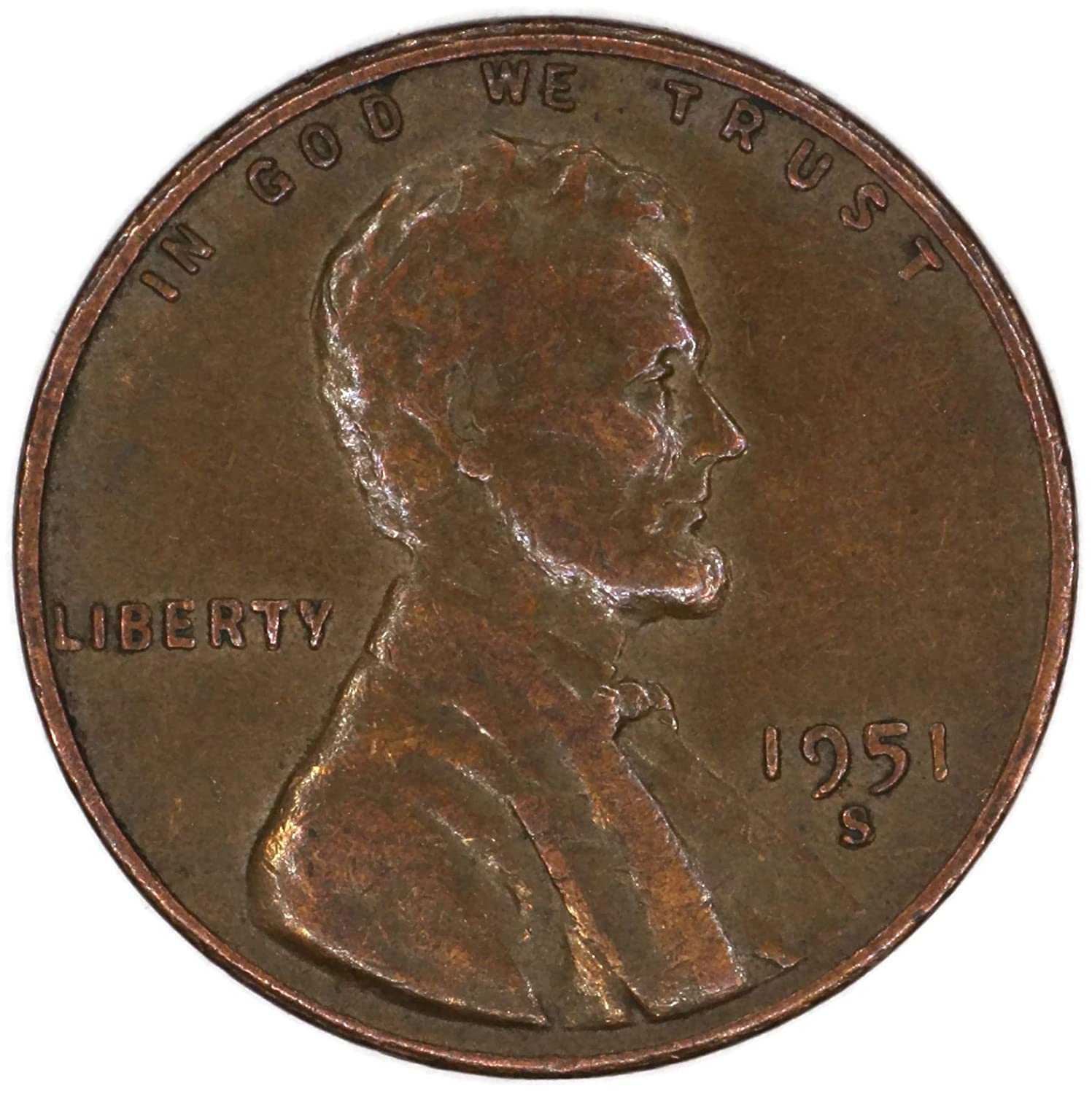 1951-S  @  Lincoln Wheat Penny