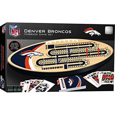 MasterPieces NFL Denver Broncos Cribbage Game Set