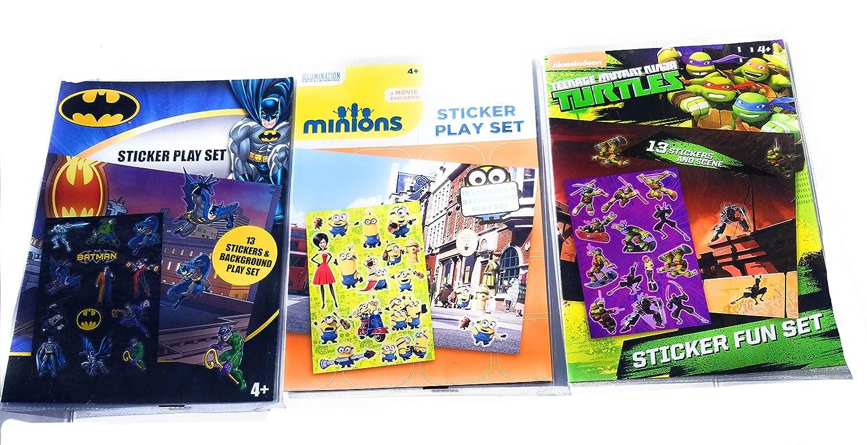 Amazon.com: Paquete de 3 pegatinas infantiles con diseño de ...