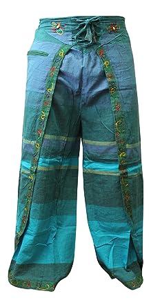 Shopoholic Mode Damen Mehrfarbig Hippie Gewickelt Hosen Hippy Hose - 3,  Einheitsgröße