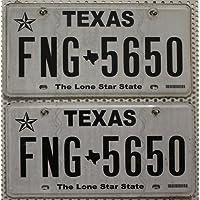 US Nummernschilder TEXAS Kennzeichen PAAR # License Plates Pair # KFZ Schilder USA