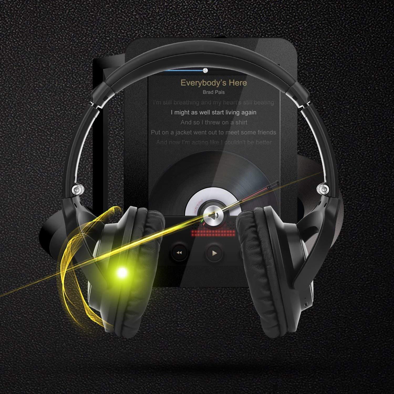 Kenuo Auriculares Inalámbricos Bluetooth Wireless con Micrófono Plegable Hi-Fi Aspecto del Metal 20 Horas de Juego: Amazon.es: Instrumentos musicales