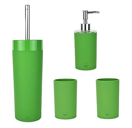 MamboCat Kela APPLE 4-tlg. Badezimmer-Set, apfel-grün, WC ...