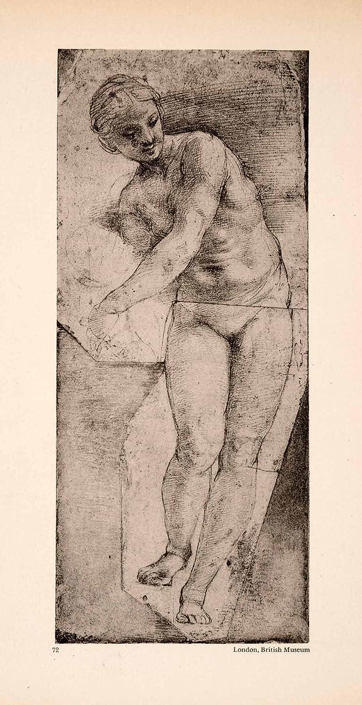1945 photogravure figure draw sketch study woman nude venus