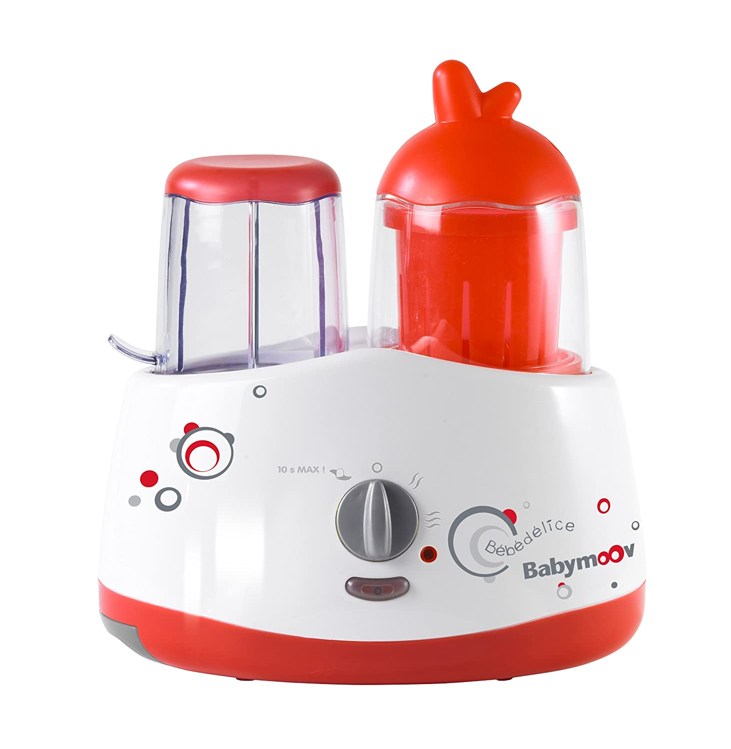 Babymoov Bebedelice 5 in 1 Baby Food Processor, Red/Grey A001014