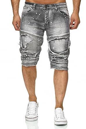 30e162d582ba ArizonaShopping - Shorts Jaylvis Herren Biker Bermuda Farbe Spritzer H2336   Amazon.de  Bekleidung