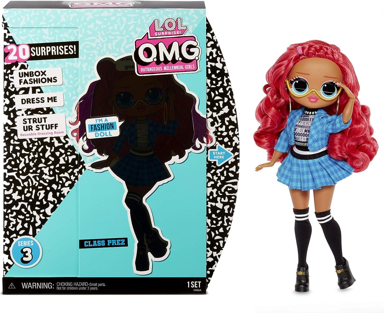 Amazon.es: L.O.L. Surprise! Muñecas de Moda Coleccionables para Niñas - con 20 Sorpresas y Accesorios - Class Prez - O.M.G. Serie 3: Juguetes y juegos