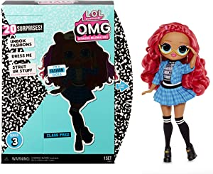 LOL Surprise OMG Series 3 Class Prez Fashion Doll With 20 Surprises Including Exclusive Doll, Outfit, Shoes, Accessories, Hat, Purse, Hairbrush, Doll Stand, Closet/Dress Room Playset   Kids 4-15 Years