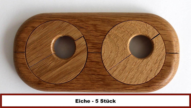 5 ST/ÜCK Doppel-Rosette f/ür Heizungsrohre Echtholz: Ahorn Holz Nuss Buche Mahagoni 15mm Rohrabstand variabel Kirsche 22mm Eiche Abdeckung f/ür Heizungsrohre Heizung 15mm, Mahagoni 19mm