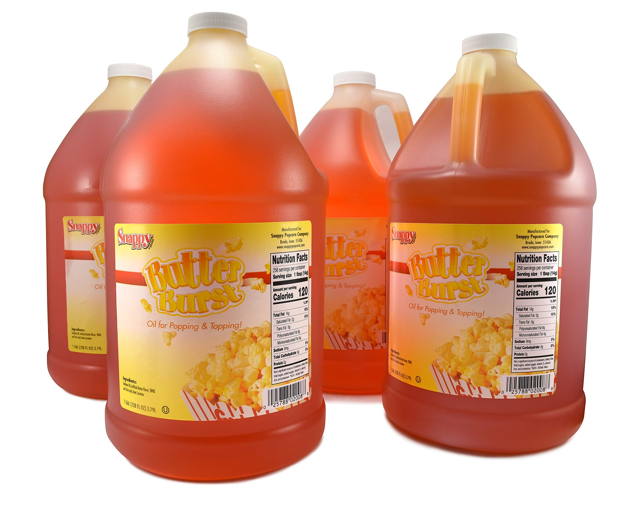 Snappy Butter Burst Oil (4 - 1 Gallon) by SNAPPY