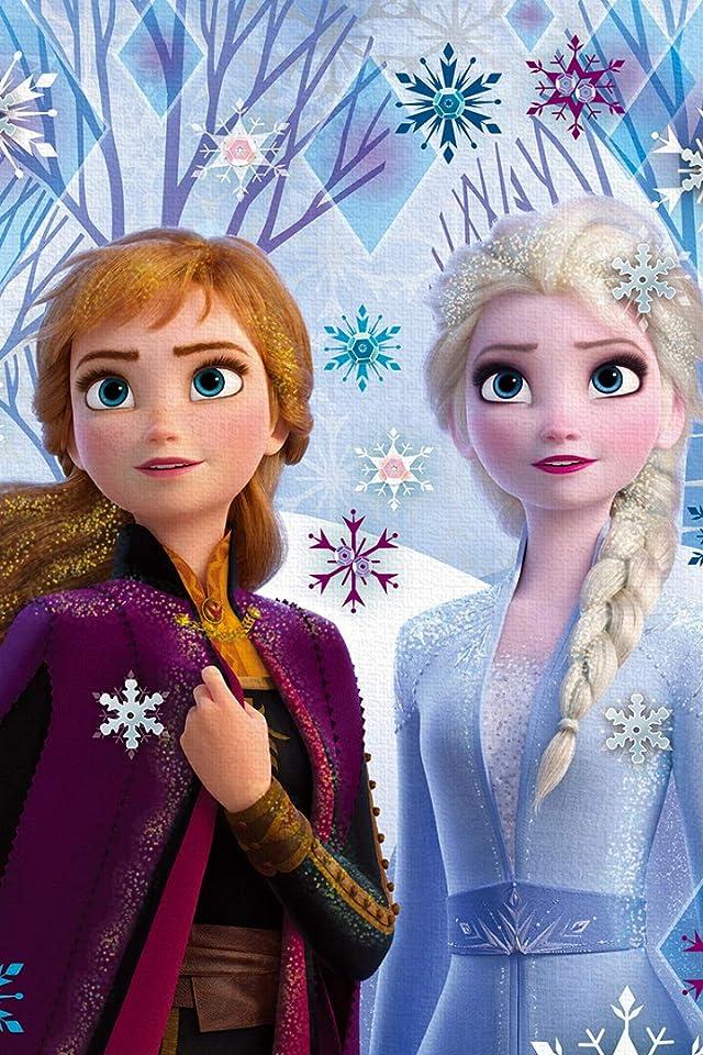 ディズニー アナと雪の女王2 (アナ,エルサ) iPhone(640×960)壁紙画像