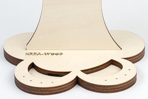De madera soporte para joyas árbol/abedul natural: Amazon.es ...