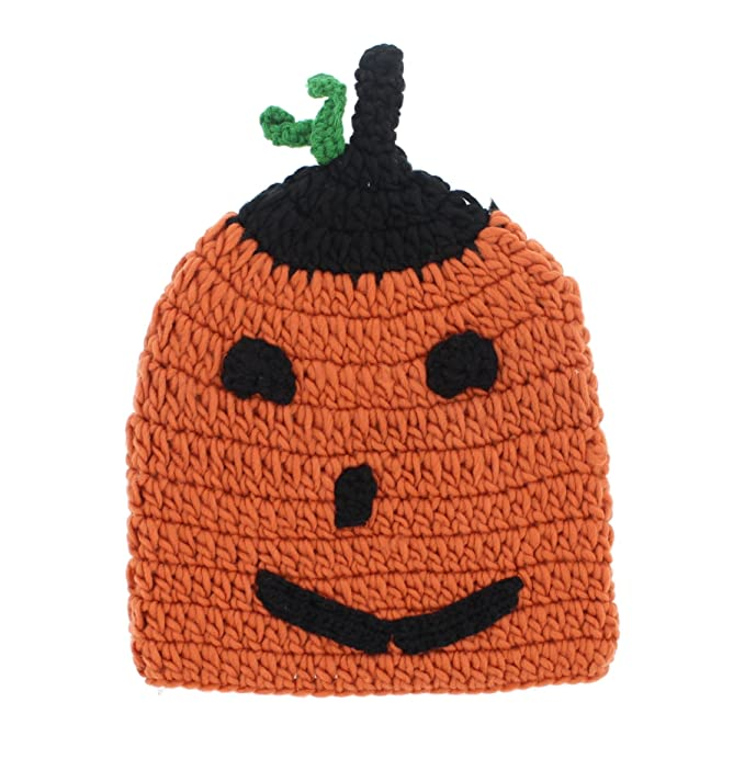 5182e0145faca Image Unavailable. Image not available for. Color  Halloween Womens Orange  Jack-O-Lantern Lumpy Knit Pumpkin Beanie