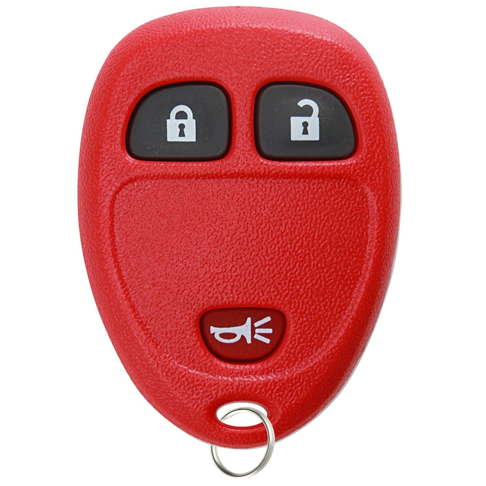 KeylessOption Keyless Entry Remote Control Car Key Fob Replacement for 15913420 Red by KeylessOption