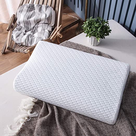 Bamboo Contour Memory Foam Pillow Orthopedic Head Neck Comfort Support 2 Sizes