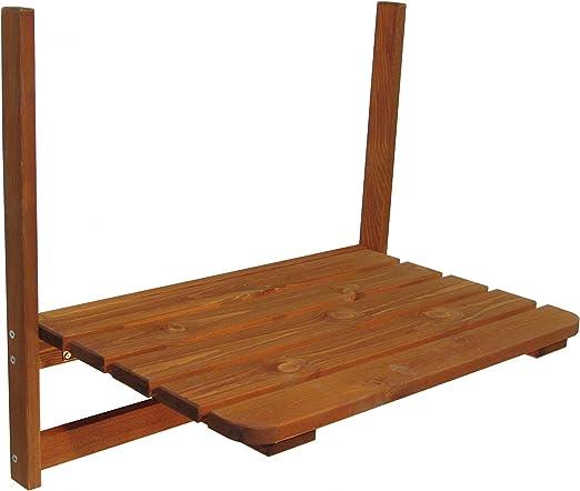 Mesa Balcón de madera 63 x 40 cm mesa plegable mesa colgante ...