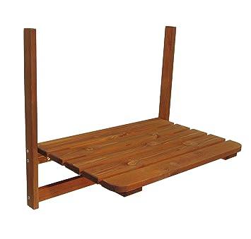 Amazon De Holz Balkontisch 63x40 Cm Klapptisch Balkon Hangetisch