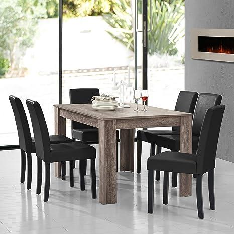 Sedie Moderne Con Tavolo Antico.Occitane Ammeublement Tavolo Da Pranzo In Quercia Antico Con