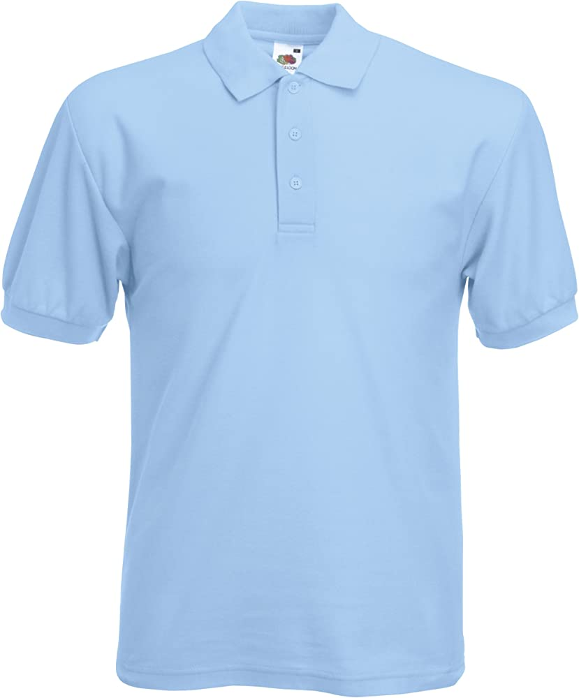 Fruit of the Loom - Polo - para Hombre Azul Cielo: Amazon.es: Ropa ...