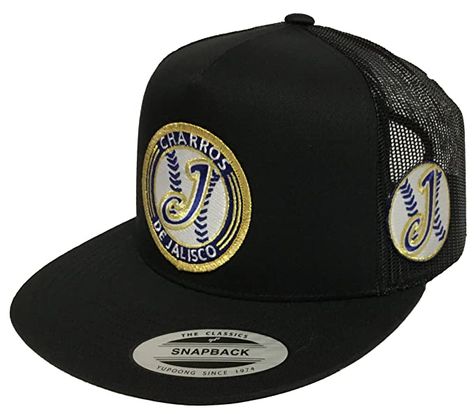 Image Unavailable. Image not available for. Color  Charros De Jalisco 3  Logos Hat Black Mesh Snapback f56f32a6f9b1