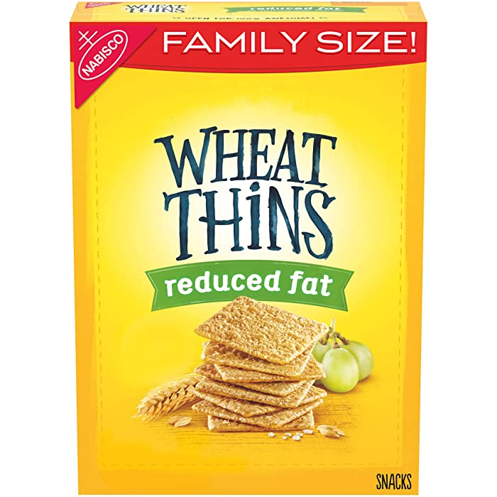 Wheat Thins Reduced Fat Whole Grain Wheat Crackers, Family Size, 14.5 oz