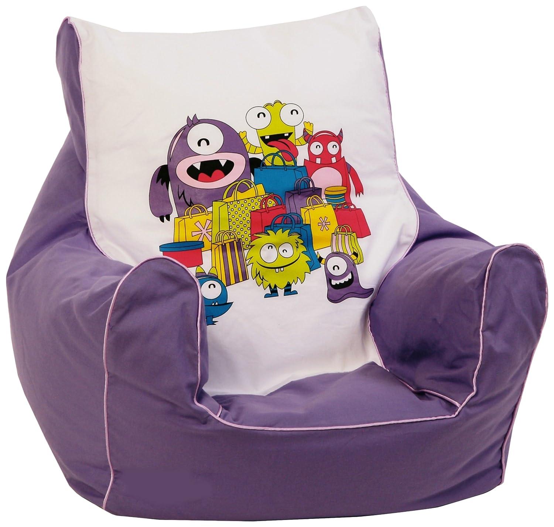 knorr-baby 450302 Kinder SitzsackMonster, lila