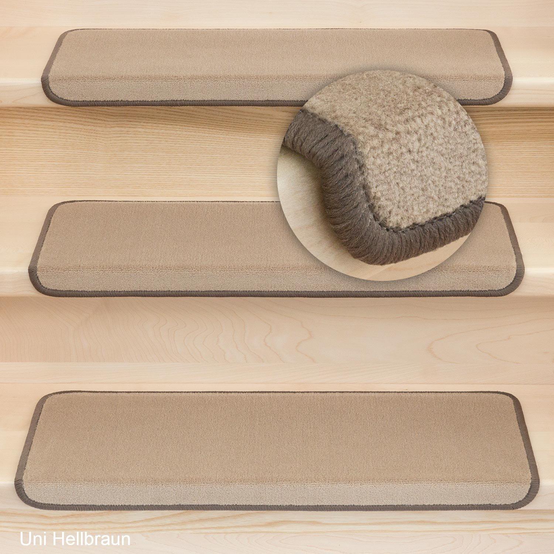 Stufenmatten Vorwerk Uni Hellbraun - Rechteckig Set 15 Stück