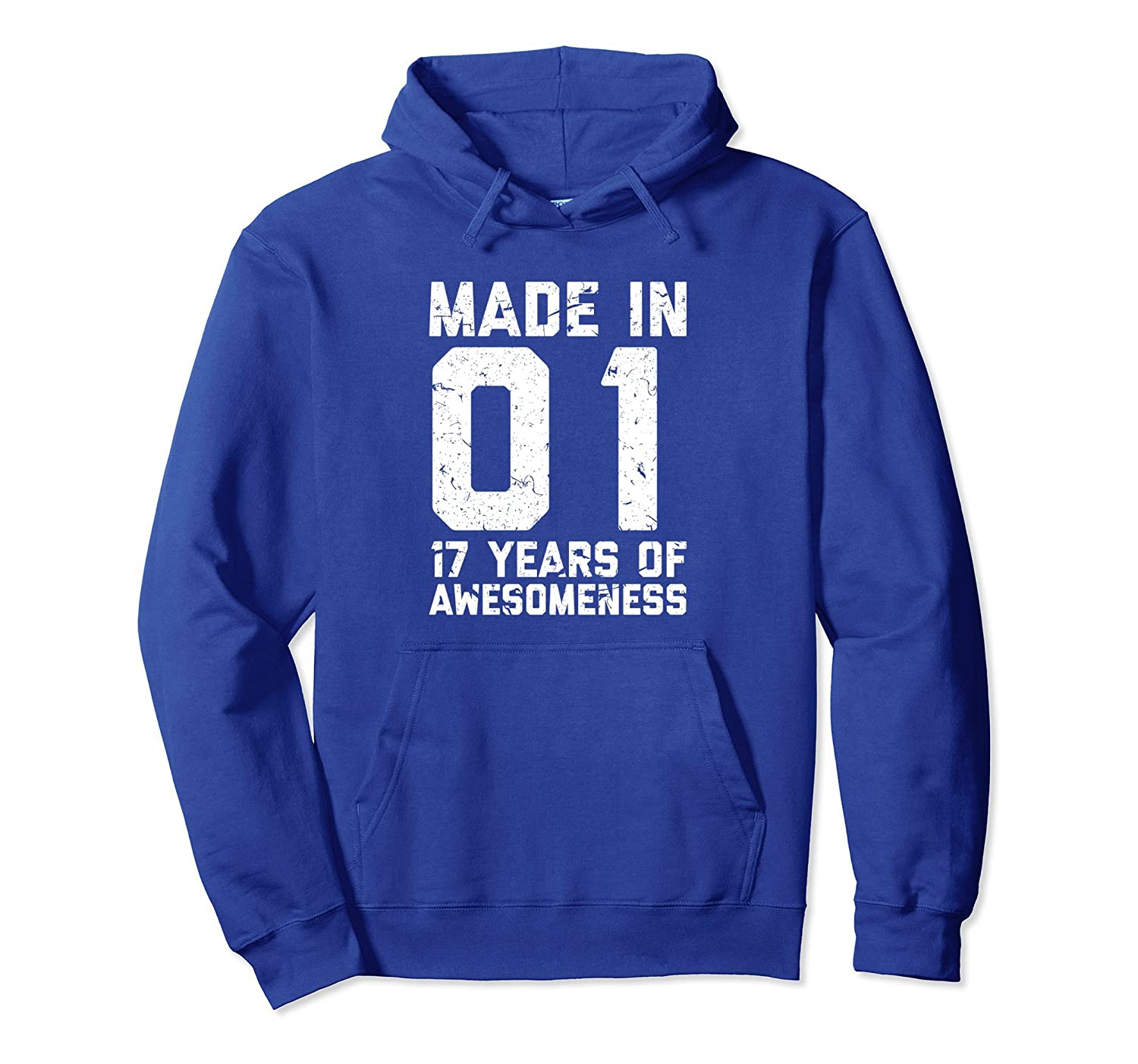 17th Birthday Hoodie Gift Girl Boy Age 17 Year Old Girls-TH