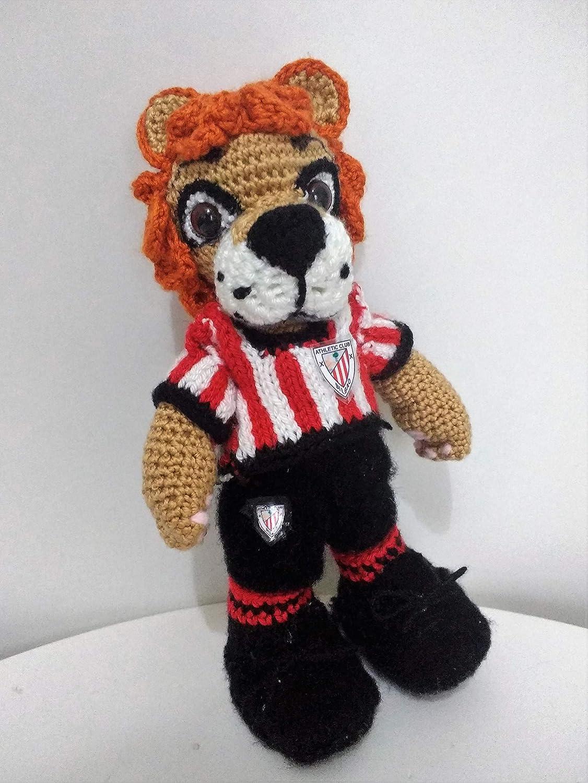 Sonajero León del Athletic Club de Bilbao Amigurumi: Amazon ...