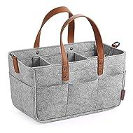 GAGAKU Baby Diaper Caddy Organizer - Baby Shower Basket Portable Nursery Storage Bin Car Storage Basket for Wipes Toys Tote Bag